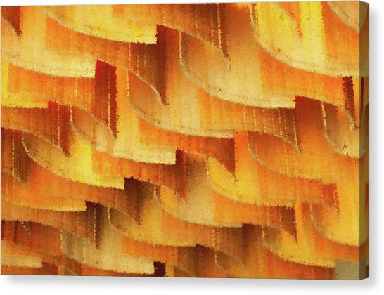 Colorful Bamboo Ceiling- China Canvas Print