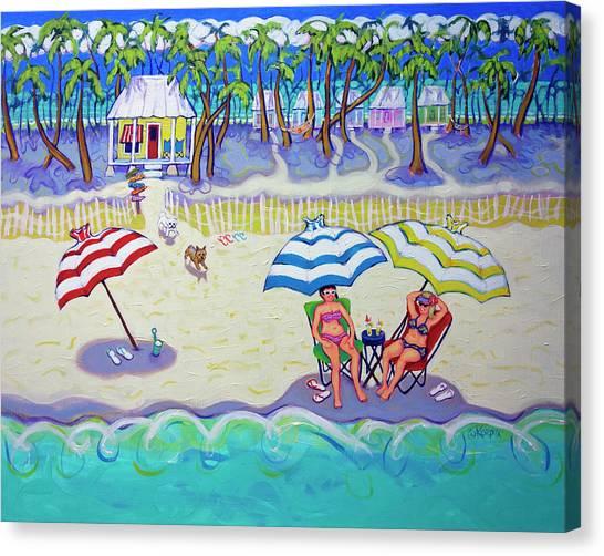Colorful Beach Hideaway Canvas Print