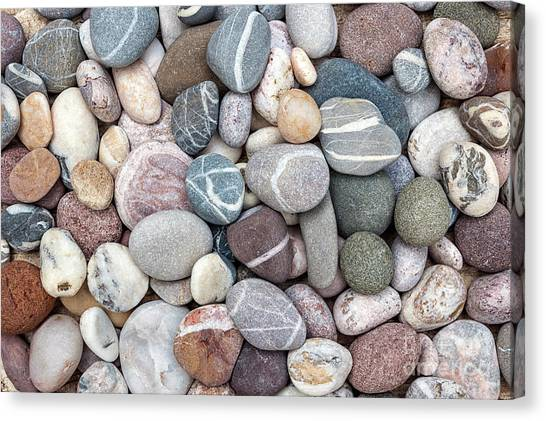 Canvas Print featuring the photograph Colorful Beach Pebbles by Elena Elisseeva