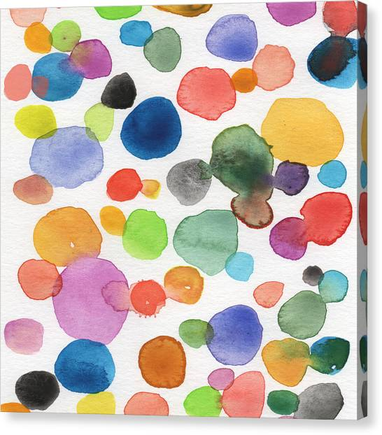 Bubbles Canvas Print - Colorful Bubbles by Linda Woods