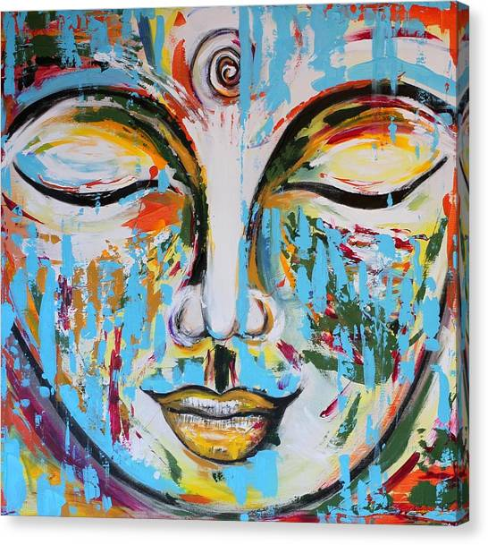 Colorful Buddha Canvas Print