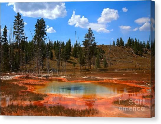 Yellowstone Caldera Canvas Print - Colorful Caldera Pool by Adam Jewell