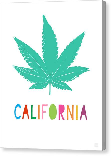 Marijuana Canvas Print - Colorful California Cannabis- Art By Linda Woods by Linda Woods