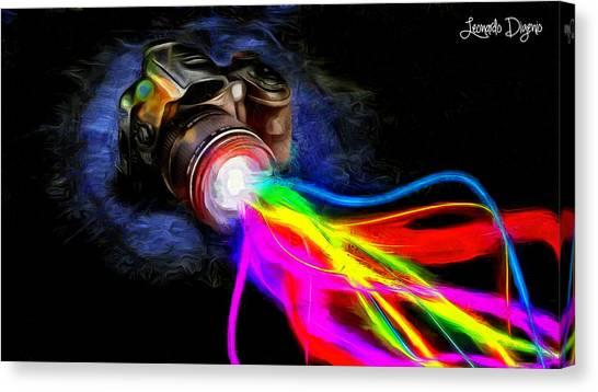 Technical Canvas Print - Colorful Cam - Da by Leonardo Digenio