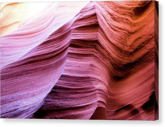 Canvas Print featuring the photograph Colorful Canyon by Stephen Holst