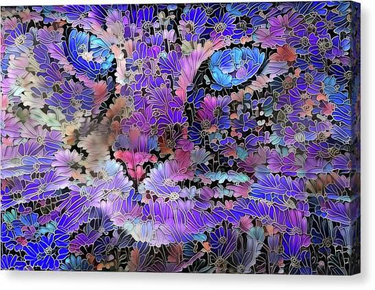 Flower Cat 2 Canvas Print