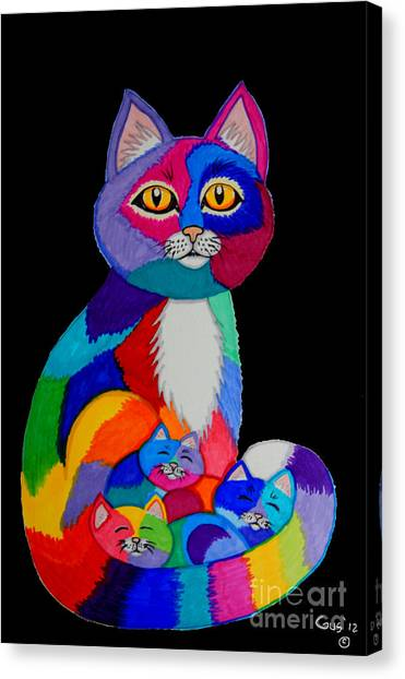 Colorful Cats And Kittens Canvas Print