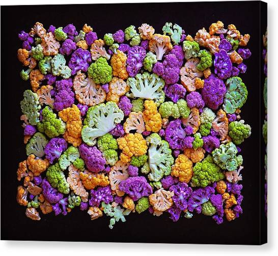 Colorful Cauliflower Mosaic Canvas Print