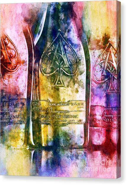 Champagne Canvas Print - Colorful Champagne by Jon Neidert