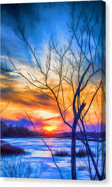 Colorful Cold Sunset Canvas Print