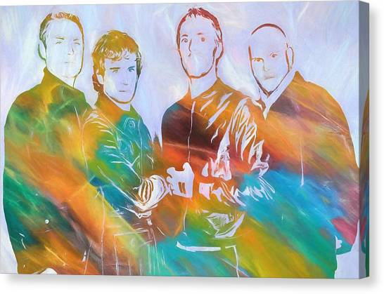 Coldplay Canvas Print - Colorful Coldplay by Dan Sproul