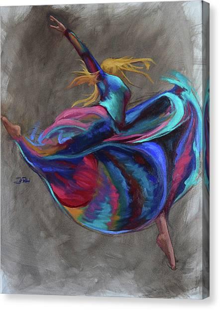 Colorful Dancer Canvas Print