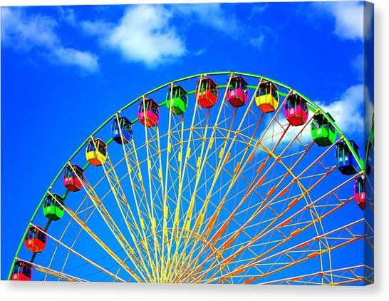 Colorful Ferris Wheel Canvas Print