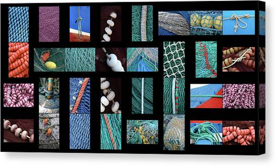 Colorful Fishing Nets Canvas Print by Frank Tschakert