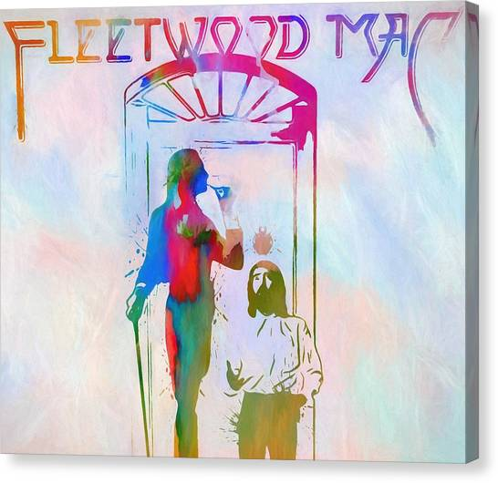 Stevie Nicks Canvas Print - Colorful Fleetwood Mac Cover by Dan Sproul