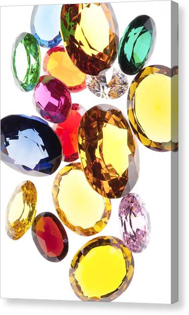 Colorful Gems Canvas Print