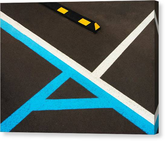 Colorful Geometry In The Parking Lot Canvas Print