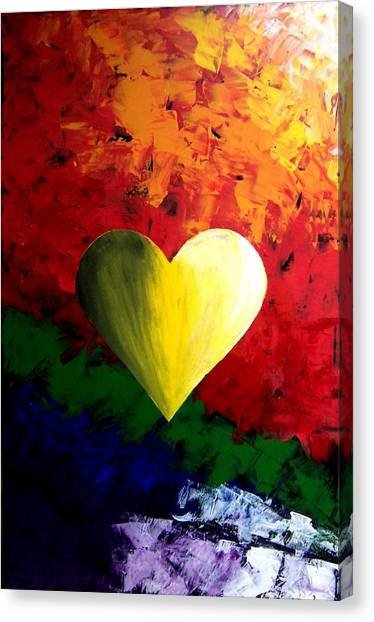 Colorful Heart Valentine Valentine's Day Canvas Print by Teo Alfonso
