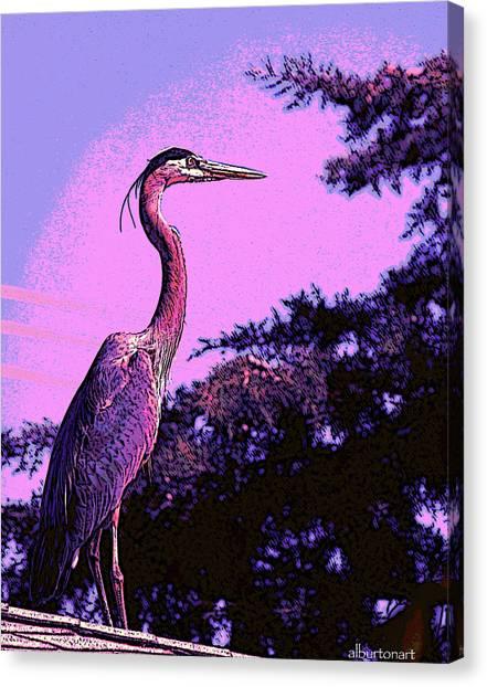 Colorful Heron Canvas Print