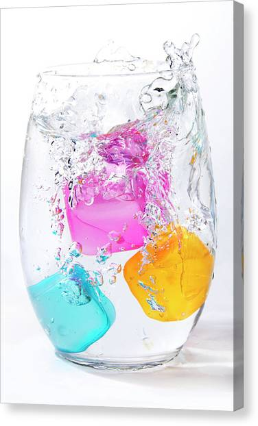 Colorful Ice Canvas Print