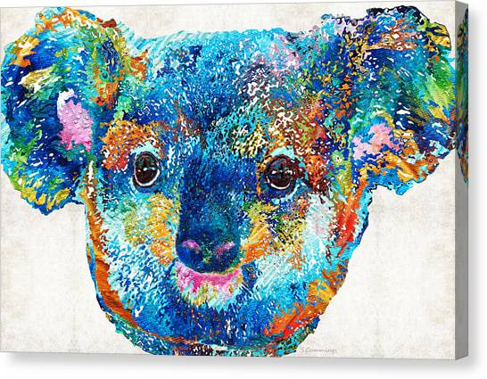 Koala Canvas Print - Colorful Koala Bear Art By Sharon Cummings by Sharon Cummings