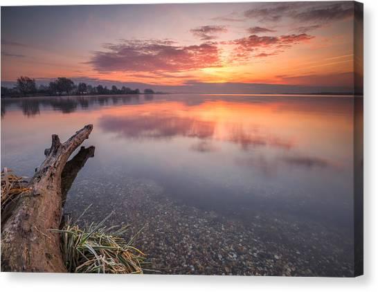 Lake Sunrises Canvas Print - Colorful Lake by Davorin Mance