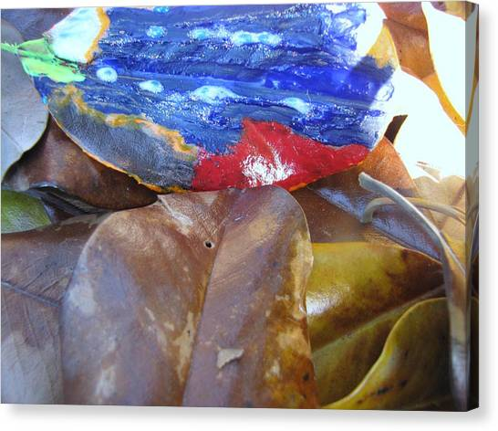 Colorful Leaves Canvas Print by HollyWood Creation By linda zanini