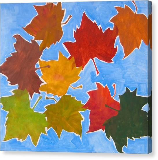 Colorful Leaves Canvas Print by Vitali Komarov
