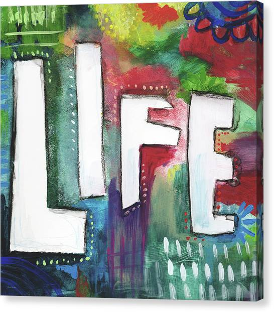 Graffiti Canvas Print - Colorful Life- Art By Linda Woods by Linda Woods
