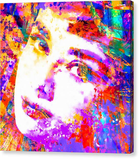 Hepburn Canvas Print - Colorful Life - Audrey Hepburn by Stacey Chiew