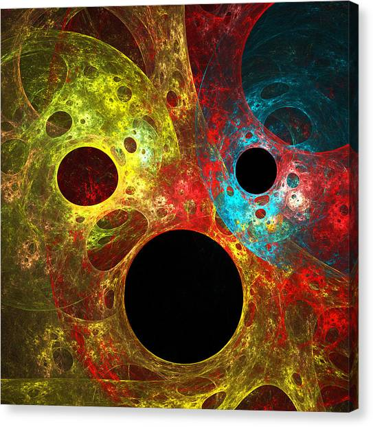 Colorful Masks Canvas Print by Mary Lane