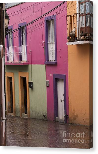 Architectural Detail Canvas Print - Colorful Mexican Homes by Juli Scalzi