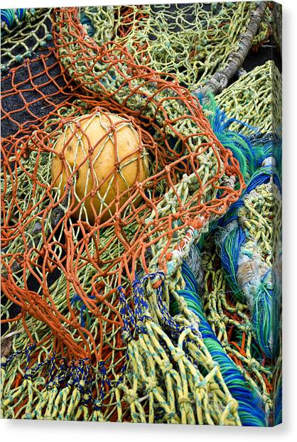 Colorful Nets And Float Canvas Print