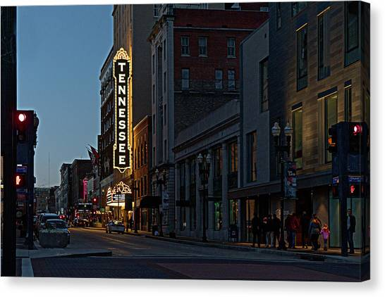 Colorful Night On Gay Street Canvas Print