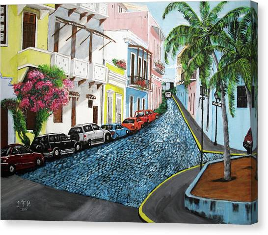 Puerto Canvas Print - Colorful Old San Juan by Luis F Rodriguez