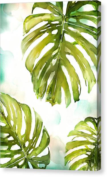 Palm Trees Canvas Print - Colorful Palm by Mauro DeVereaux