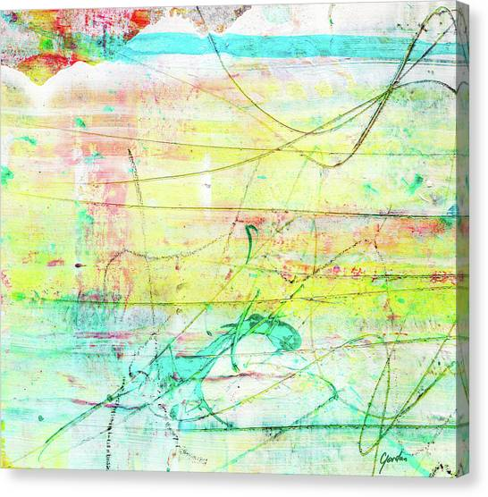 Colorful Pastel Art - Mixed Media Abstract Painting Canvas Print