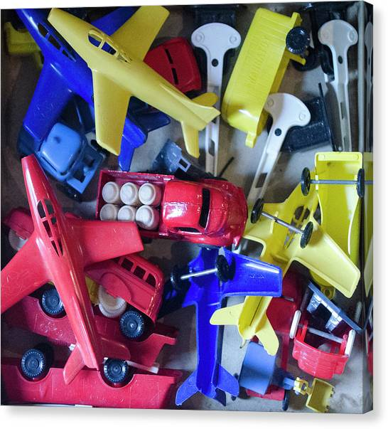 Toy Airplanes Canvas Print - Colorful Plastic Toys #1 by Erik Burg