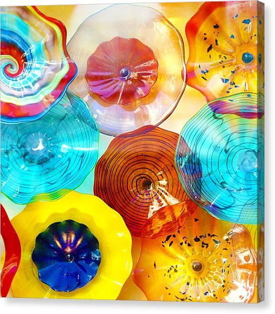 Colorful Plates Canvas Print