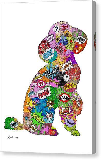 Poodle-icious Canvas Print