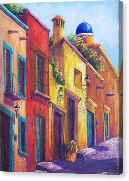 Colorful San Miguel Canvas Print by Candy Mayer