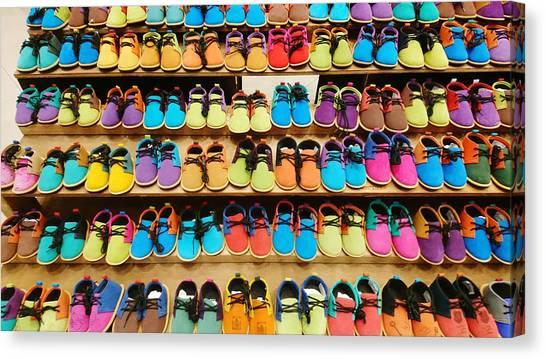 Largemouth Bass Canvas Print - Colorful Shoes by Shunsuke Kanamori