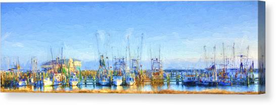 Colorful Shrimp Boat Harbor Pass Christian Ms Canvas Print
