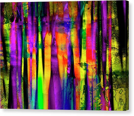 Canvas Print - Colorful Silk by Contemporary Art