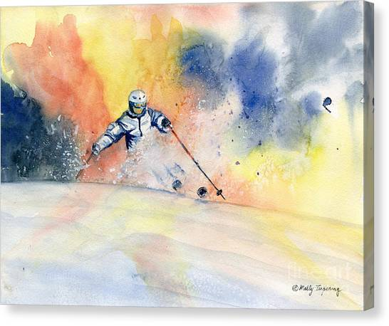 Colorful Skiing Art 2 Canvas Print