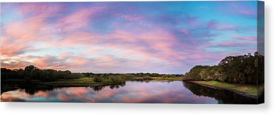 Alligators Canvas Print - Colorful Sky by Marvin Spates