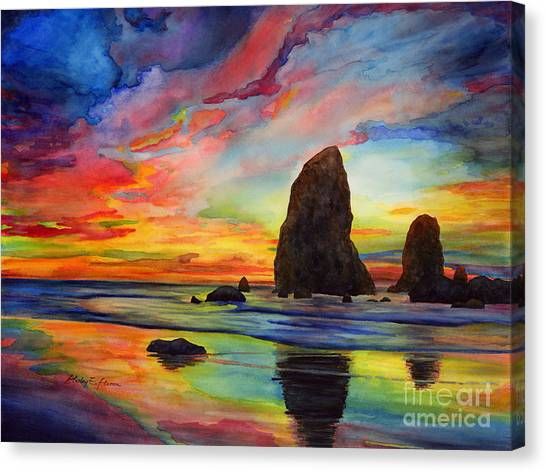 Formation Canvas Print - Colorful Solitude by Hailey E Herrera