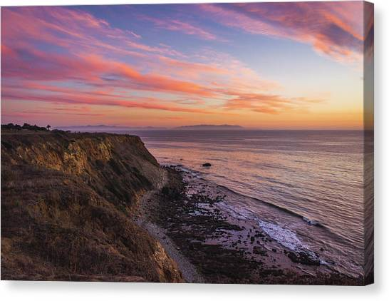 Colorful Sunset At Golden Cove Canvas Print