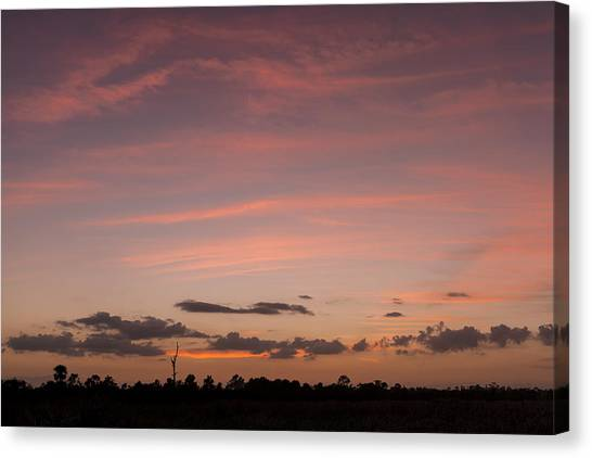 Colorful Sunset Over The Wetlands Canvas Print