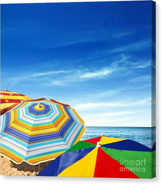 Summer Vacation Canvas Print - Colorful Sunshades by Carlos Caetano